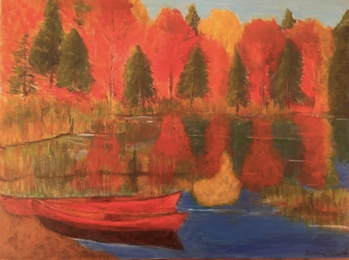 Fall in Vermont (acrylic on canvas panel), 9 x 12 - Price negotiable