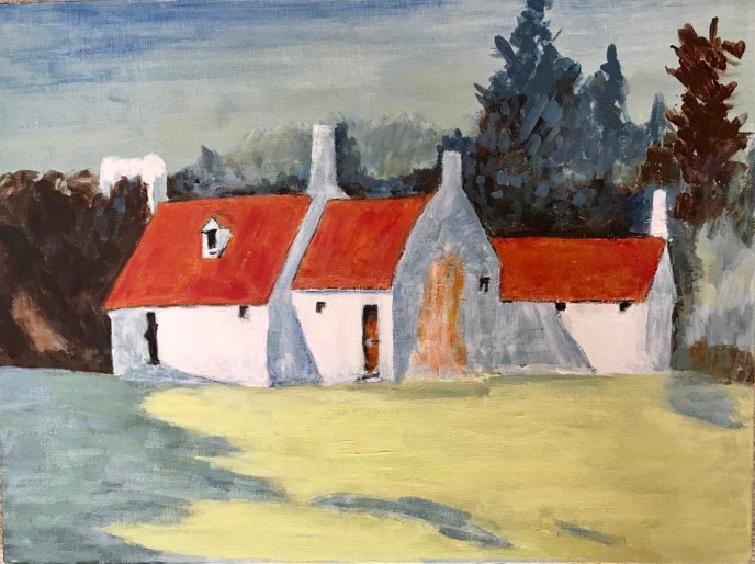 Country Cottage (acrylic), negotiable