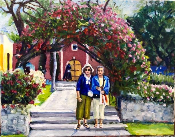 "Carol Hansen ""Turistas"" (oil, 11x14), NFS"