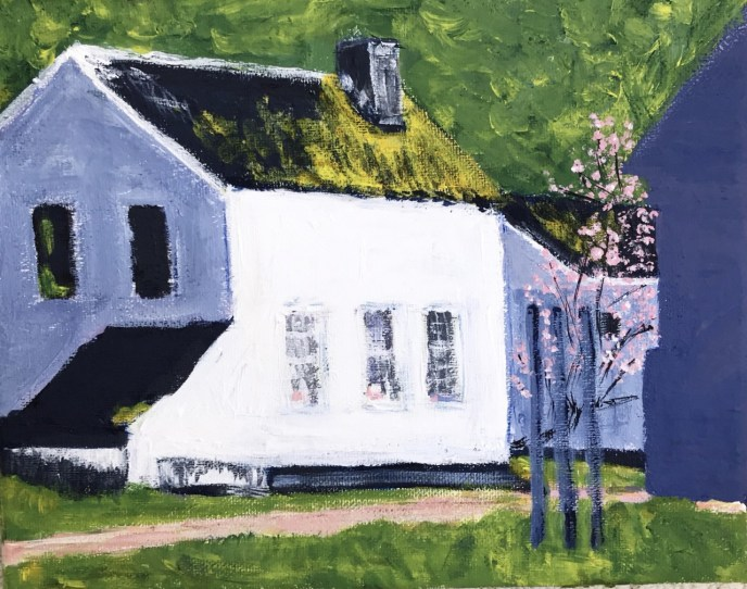 Great Falls, MD Outbuildings (acrylic on canvas, 8x10) - Price Negotiable