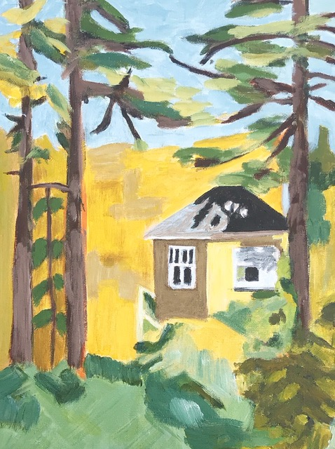 "Susan Van Horne ""In a Cottage in the Woods"" (acrylic), Neg"