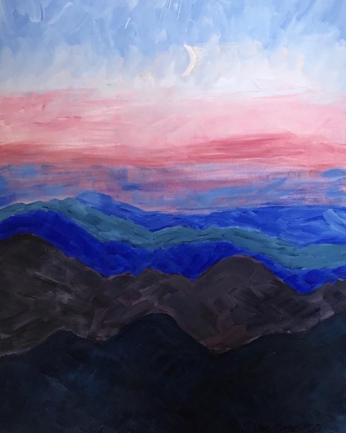 """Moonrise"" (acrylic) - NFS"