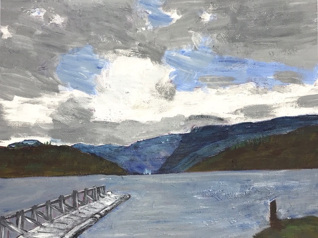 "Susan Van Horne ""Vancouver Ferry"" (acrylic), Neg"
