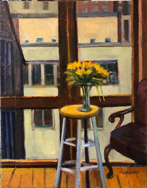 "Carol Hansen ""View from the Studio"" (oil, 11x14), SOLD"