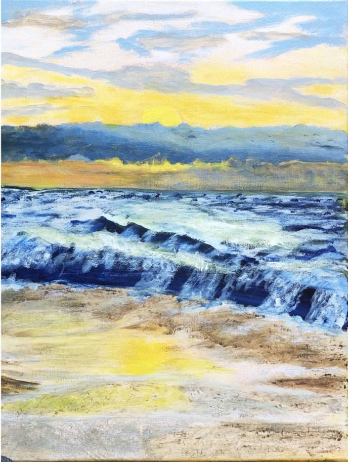 Rhode Island Sunset (acrylic on canvas, 16x20) - Price Negotiable
