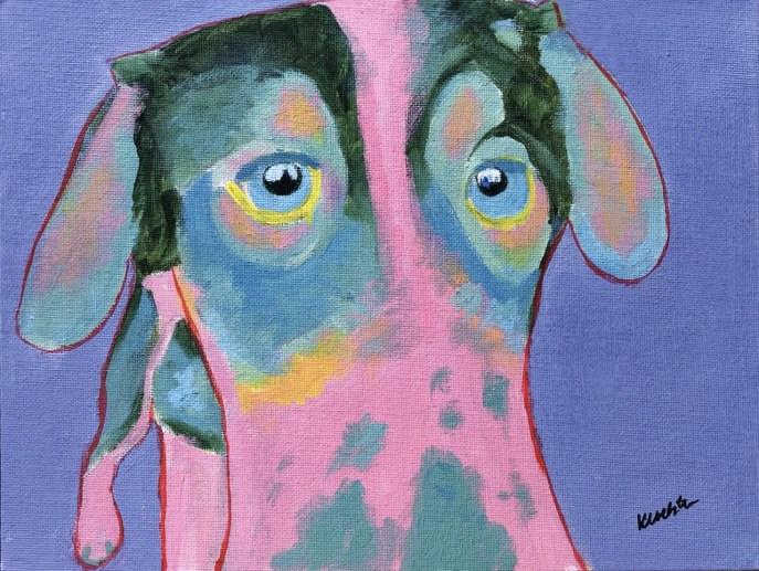 Color: Sled Dog I (acrylic on canvas board, 8x10) - NFS
