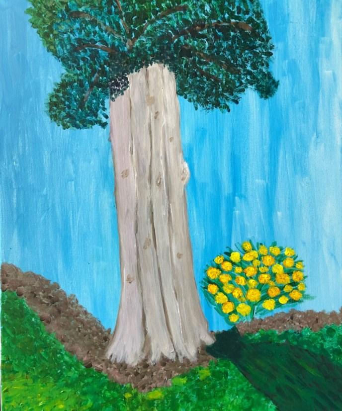 My Hemlock Tree (acrylic, 16x20) - NFS