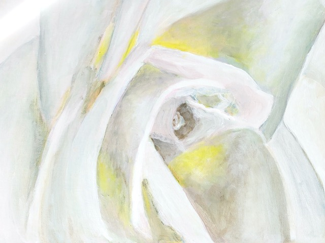 """Kathy Webster """"White Rose"""" (acrylic), NFS"""
