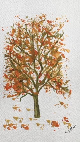 October (watercolor, 7x10) - $75