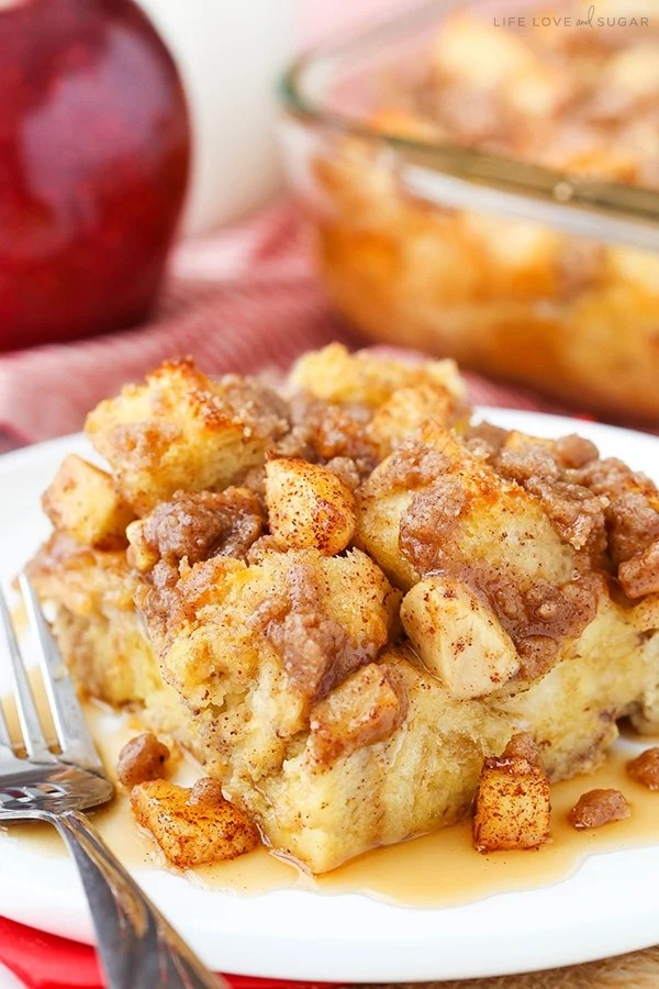Overnight Cinnamon Apple Baked French Toast Casserole  Life Love and Sugar