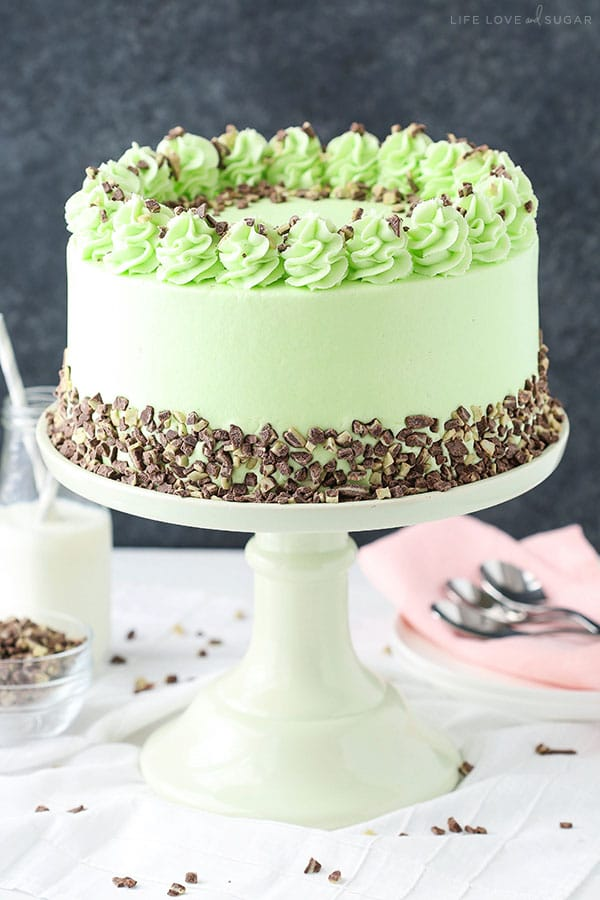 Mint Chocolate Chip Layer Cake  Life Love and Sugar