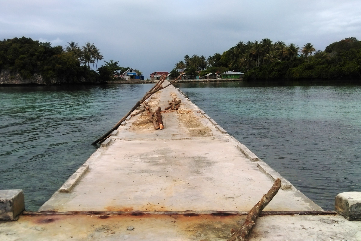 A massive jetty in the tropics