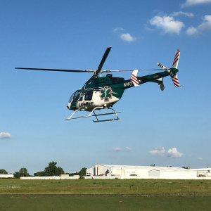LifeNet Air Ambulance Medical Helicopter Leaving Hot Springs Arkansas