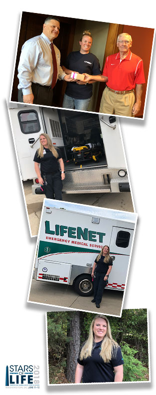 Cyndy Rider Texarkana LifeNet Paramedic Star of Life 2018
