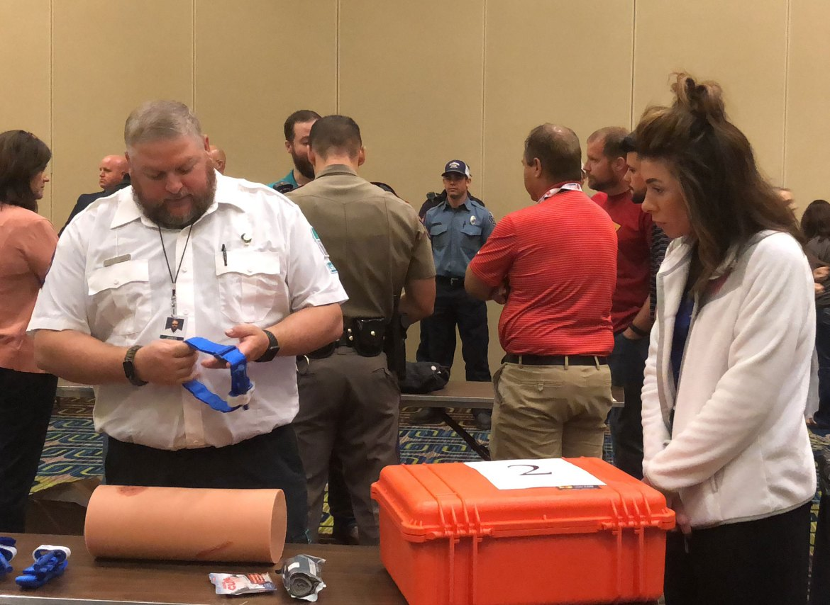 Jarod Null Teaches Stop the Bleed Training in Texarkana for LifeNet EMS