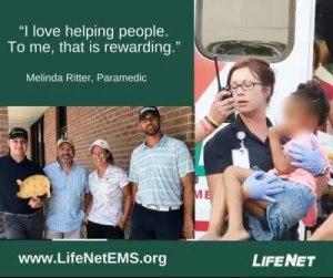 Melinda Ritche, Paramedic, LifeNet, Paramedic Careers in Hot Springs