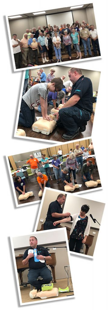 University Heights Baptist Chruch Learns CPR form LifeNet EMS in Stillwater
