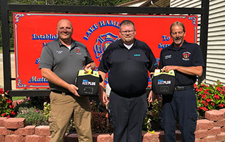 LifeNet EMS AED Donation to Lake Hamilton Fire & Rescue