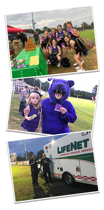 Stroke Zone Photos LifeNet EMS at Fouke Panther Stadium with BEFAST Magnets from Arkansas Saves