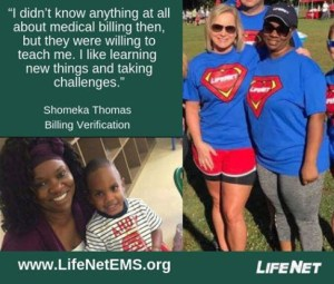 Shomeka Thomas, Medical Billing, LifeNet EMS Texarkana