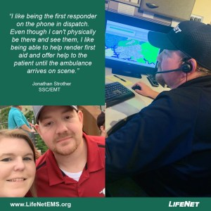 Jonathan Strother, SSC Dispatcher at LifeNet EMS in Hot Springs, Arkansas