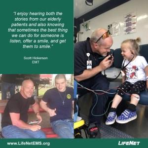 Scott Hickerson is an EMT at LifeNet EMS in Texarkana.