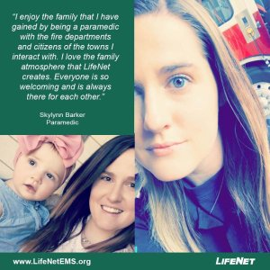Skylynn Barker is a paramedic at LifeNet EMS in Denison, Texas