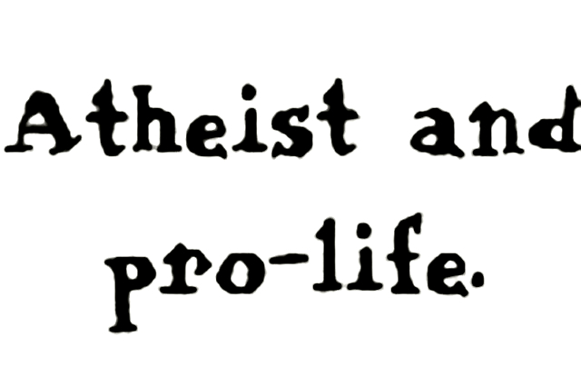 How Do Atheist Pro-Lifers Feel About Being Involved in a