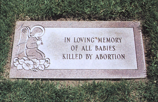 Church Dedicates Memorial to Remember the Babies Killed in Abortions