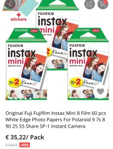 Instax on AliExpress
