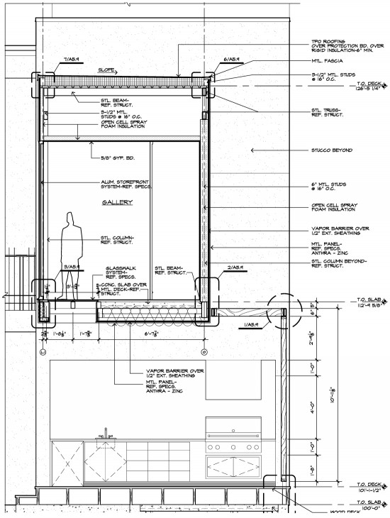architecture section diagram vw golf mk5 airbag wiring architectural graphic standards life of an architect bridge wall construction drawing