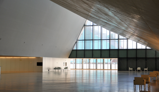Convention Centre of Aragon - interior lobby
