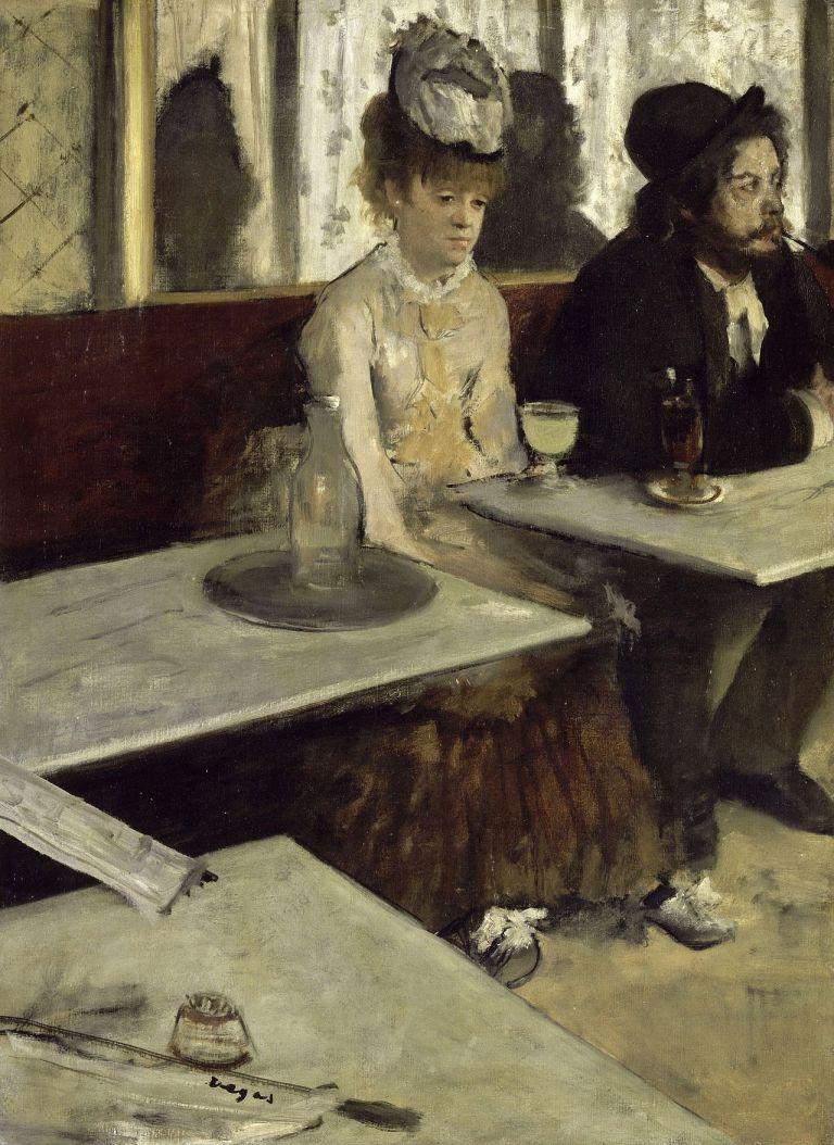 Au Café dit L'Absinthe by Degas