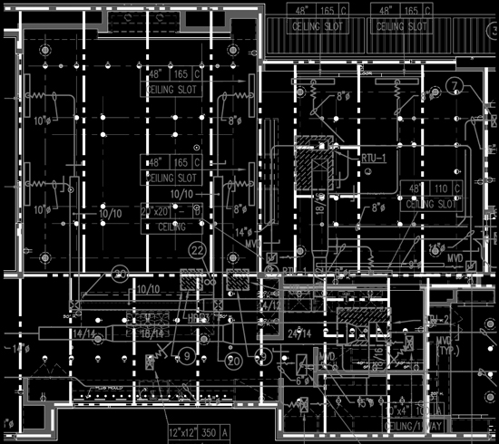 Complicated Ceiling Drawing