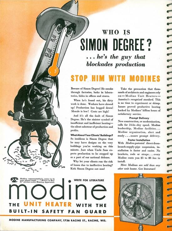 Modine Unit Heater Ad Architectural Forum Magazine