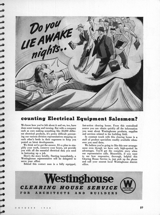 Westinghouse Ad Architectural Forum Magazine