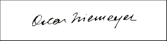 the signature of architect Oscar Niemeyer