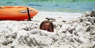 Kates buried at the beach
