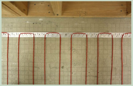 Infloor Radiant Heating on floor