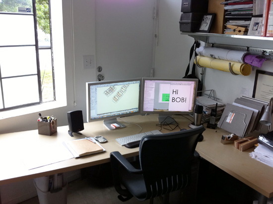Derek Leavitt's desk