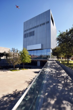 Wyly North elevation at plaza