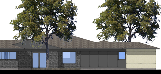 SketchUp West Elevation