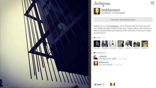 Modern house screen detail on Instagram