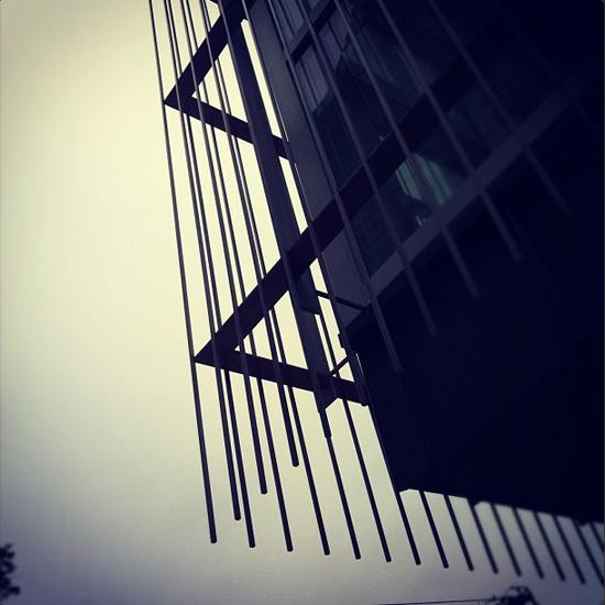 Modern house stainless steel screen detail