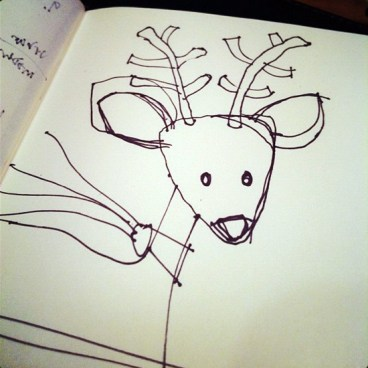 Reindeer sketch from Bob Borson