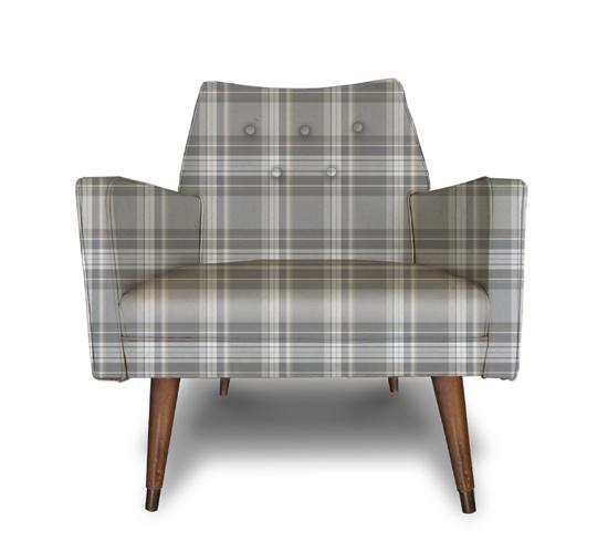 Grey Plaid chair