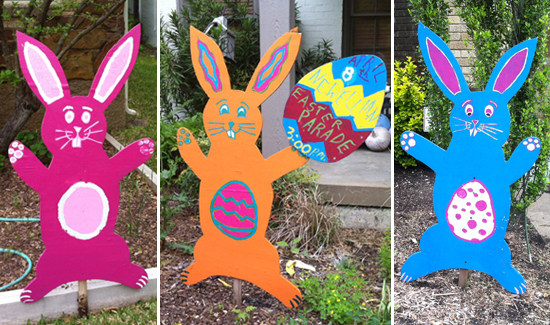 Plywood Easter Bunnies