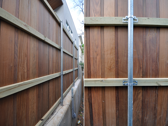 Modern Fence brackets detail