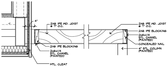 Modern Trellis Detail Drawing