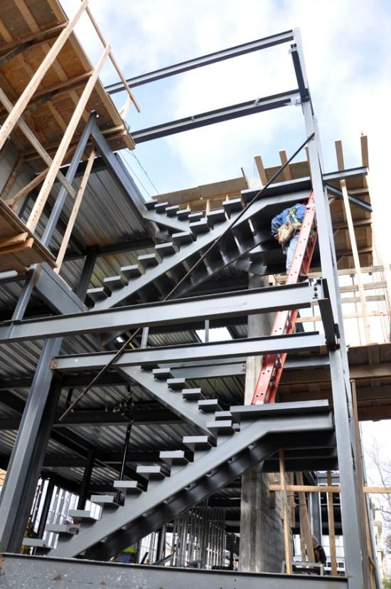 modern steel stairs - framework complete